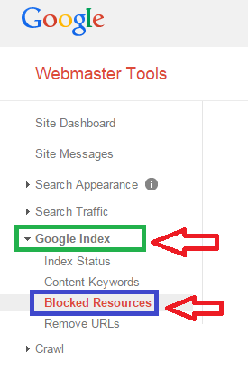 Google Search Console- Blocked Resources