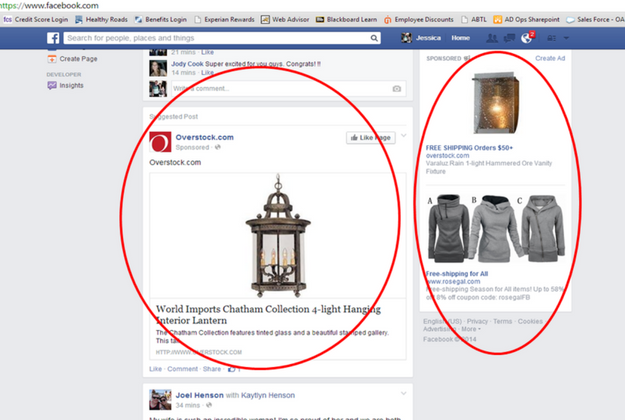 Ads on AdWords and Facebook
