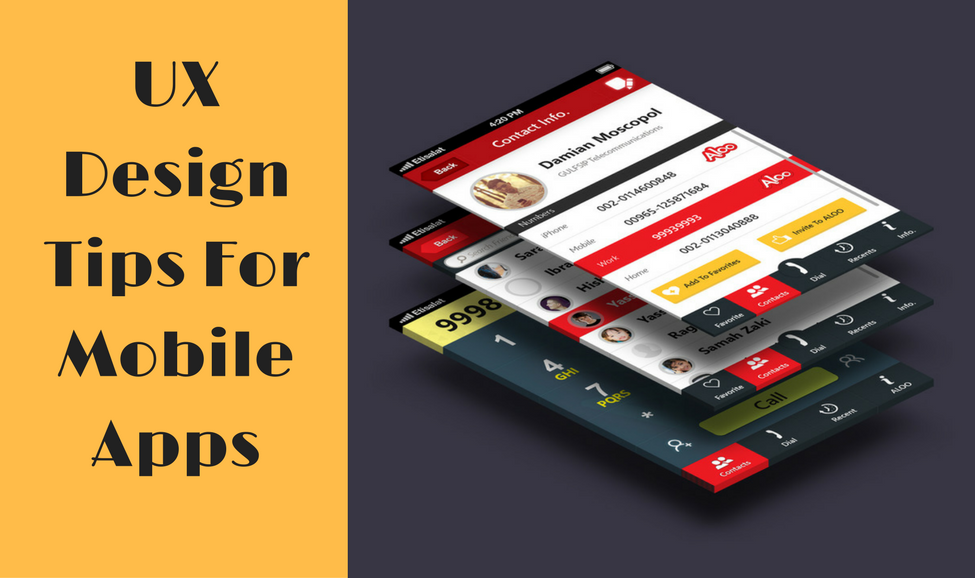 UX Design Tips For Mobile Apps