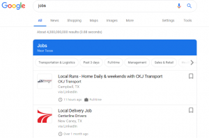 Jobs Search in Google